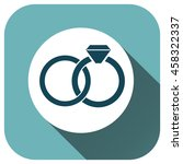 wedding rings icon vector logo...