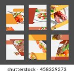 set of annual report brochure... | Shutterstock . vector #458329273