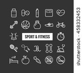 set of sport and fitness... | Shutterstock .eps vector #458332453