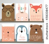 colorful collection for banners ... | Shutterstock .eps vector #458338477