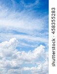 blue sky background with clouds ... | Shutterstock . vector #458355283