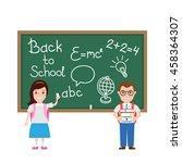 back to school children pupils... | Shutterstock .eps vector #458364307