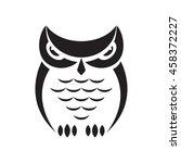 vector owl design on white... | Shutterstock .eps vector #458372227