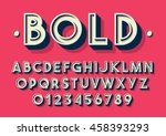 Vector of retro font and alphabet | Shutterstock vector #458393293