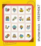 icon set dessert vector   Shutterstock .eps vector #458394067