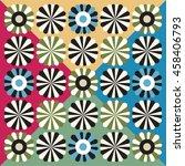 decorative floral background   Shutterstock . vector #458406793