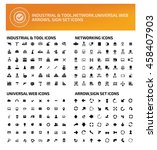 big icon set industry icon... | Shutterstock .eps vector #458407903