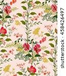 trendy seamless floral pattern... | Shutterstock .eps vector #458426497