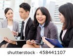 group of business people... | Shutterstock . vector #458441107