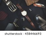 men accessories on suit