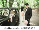 beautiful newlywed couple... | Shutterstock . vector #458451517