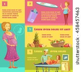 information on pregnancy stages ... | Shutterstock .eps vector #458457463