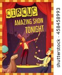 traveling chapiteau circus show ... | Shutterstock .eps vector #458458993