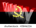 flag of angola   national... | Shutterstock . vector #45846226