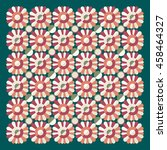 floral pattern  vector...   Shutterstock .eps vector #458464327