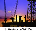 group of the workers on a... | Shutterstock . vector #45846934