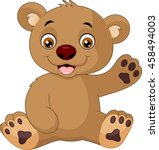 cute baby bear cartoon | Shutterstock .eps vector #458494003