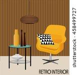 vector illustration of retro... | Shutterstock .eps vector #458499727