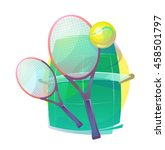 illustration for tennis with... | Shutterstock .eps vector #458501797