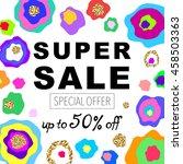 creative social media sale... | Shutterstock .eps vector #458503363