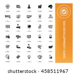 seo development icon set vector | Shutterstock .eps vector #458511967