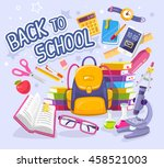 vector colorful illustration of ... | Shutterstock .eps vector #458521003