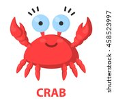 crab cartoon icon. illustration ... | Shutterstock .eps vector #458523997