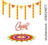 elegant greeting card design... | Shutterstock .eps vector #458529877