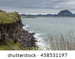 View Of A Steep And Rugged...