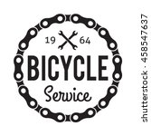 bicycle badge label. bike... | Shutterstock .eps vector #458547637