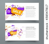 flyer sale colored background | Shutterstock .eps vector #458547817