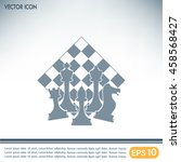 chess club sport emblems or... | Shutterstock .eps vector #458568427