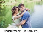 a beautiful young woman and her ... | Shutterstock . vector #458582197