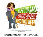 happy onam sale and special... | Shutterstock .eps vector #458590987