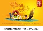 onam sale poster  banner or... | Shutterstock .eps vector #458592307