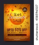 hot summer sale and discounts ... | Shutterstock .eps vector #458596537