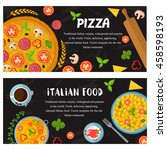 vector design italian food ... | Shutterstock .eps vector #458598193