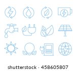 save energy icons | Shutterstock .eps vector #458605807