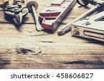 tools laid out on the table. | Shutterstock . vector #458606827
