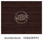 background of realistic wooden... | Shutterstock .eps vector #458608993