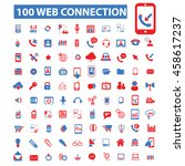 web connection icons | Shutterstock .eps vector #458617237