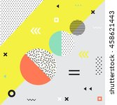 retro style texture  pattern... | Shutterstock . vector #458621443