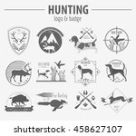 hunting logo and badge template.... | Shutterstock .eps vector #458627107