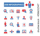 job infographics icons | Shutterstock .eps vector #458631547