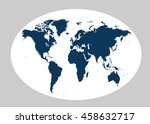 world map planet vector | Shutterstock .eps vector #458632717
