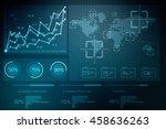 2d illustration business graph | Shutterstock . vector #458636263