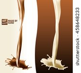 realistic splash of pouring... | Shutterstock .eps vector #458648233