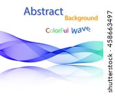 vector abstract colorful smoky... | Shutterstock .eps vector #458663497