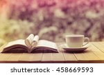 pages of a book curved into a... | Shutterstock . vector #458669593