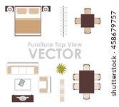 furniture top view vector design   Shutterstock .eps vector #458679757